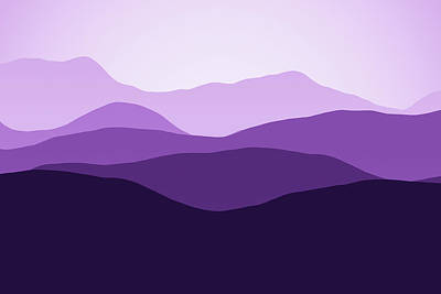 Digital Art - Forever Purple Hills by Georgiana Romanovna