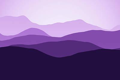 Digital Art - Forever Purple Hills by Georgiana Romanovna