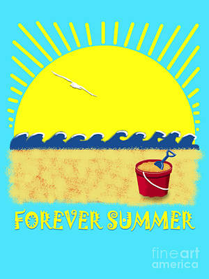 Digital Art - Forever Summer 8 by Linda Lees