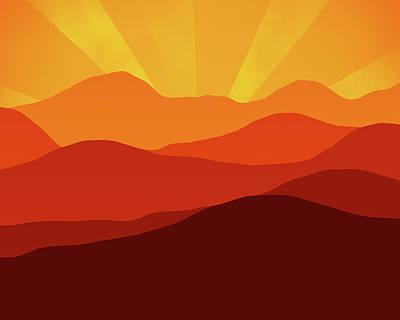 Digital Art - Forever Sunset by Georgiana Romanovna