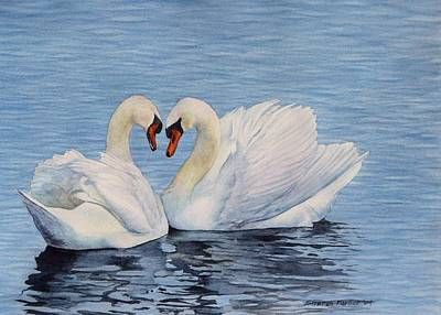 Forever Swans Art Print by Sharon Farber
