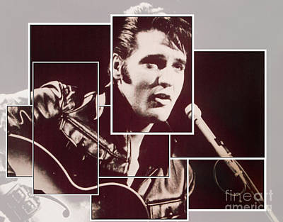 Elvis Aaron Presley Photograph - Forever The King by Al Bourassa