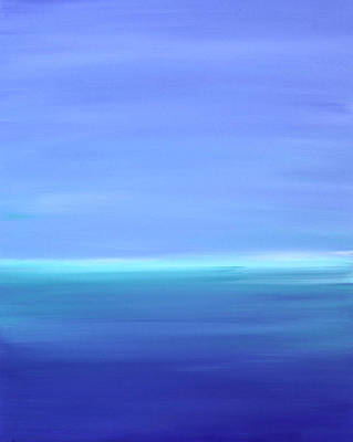 Blue Water Painting - Forever by Tricia lee Kelshall
