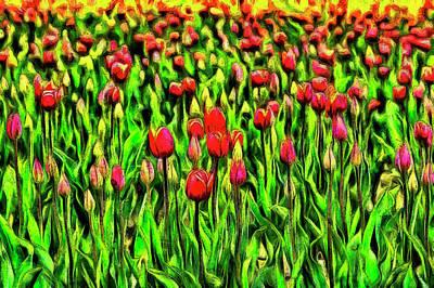Digital Art - Forever Tulips by Mark Kiver