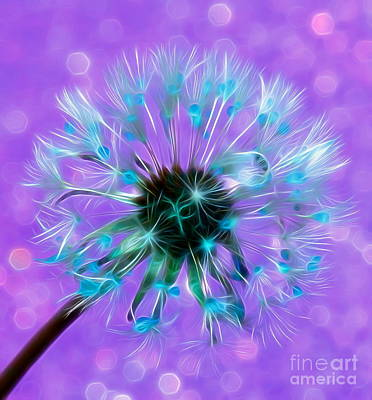 Floral Digital Art Digital Art Digital Art - Forever Wishing by Krissy Katsimbras