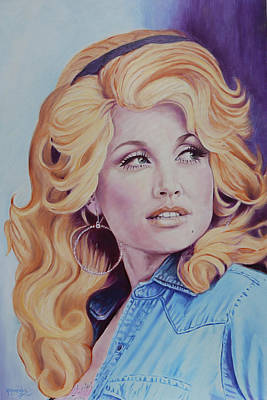 Painting - Forever Young - Dolly Parton by Maria Modopoulos