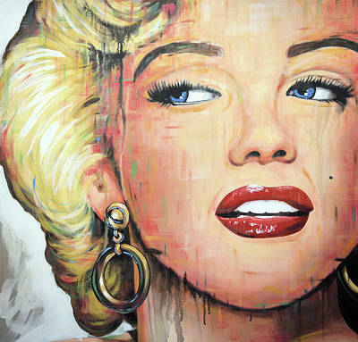 Painting - Forever Young - Marilyn Monroe Portrait Face Art Painting by Amy Giacomelli