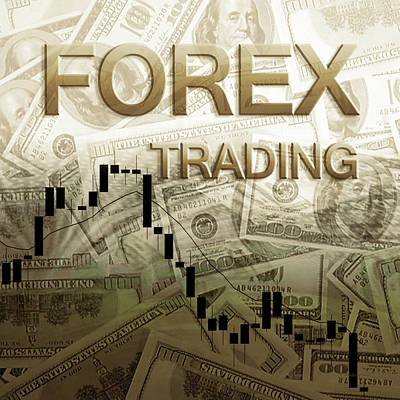 Photograph - Forex Trading Sepia,tone 1c by Walter Herrit