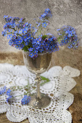 Still Life Photograph - Forget-me-not by Guna Andersone