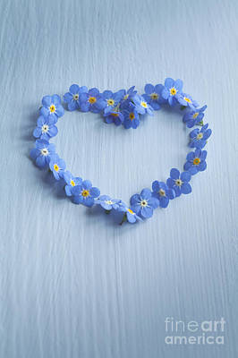 Forget Me Not Heart Art Print