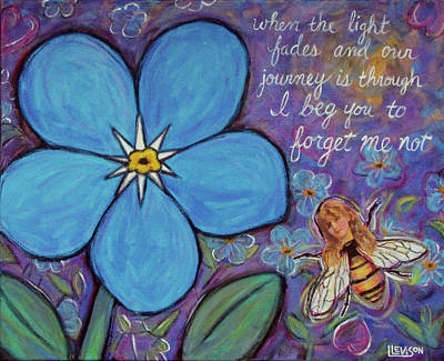 Painting - Forget Me Not by Lindi Levison