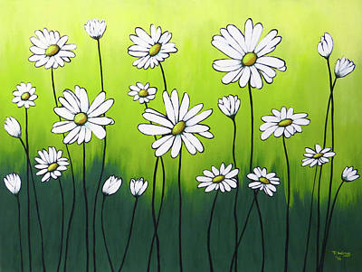Painting - Daisy Crazy by Teresa Wing