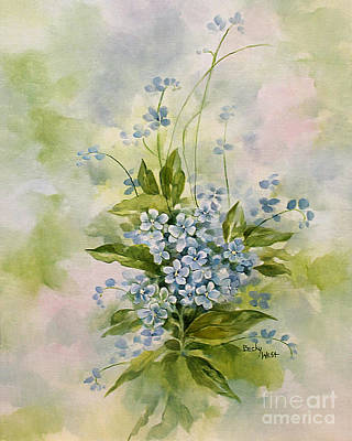 Painting - Forget-me-nots by Becky West