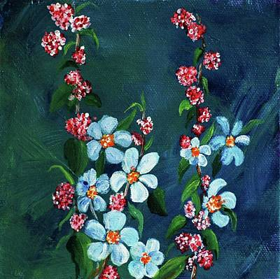 Painting - Forget Me Nots by Melinda Etzold