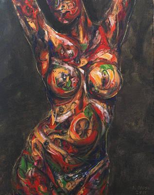Forgetfulness Of Being Art Print by Edward Ofosu