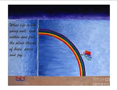 Painting - Forgetting - Spiritual Art Poster With A Message by Pat Heydlauff