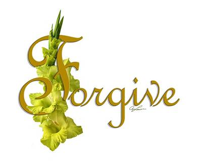 Digital Art - Forgive by Ann Lauwers