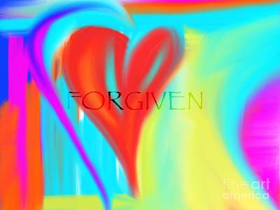 Digital Art - Forgiven by Jessica Eli