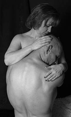 Middle Aged Female Nude Photograph - Forgiveness Bnw by Robert Gebbie