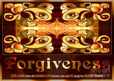Forgiveness Spiritual Artwork By Omashte Print by Omaste Witkowski