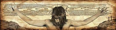 Crucifixtion Digital Art - Forgiveness by Vicki Zimmerly Carson