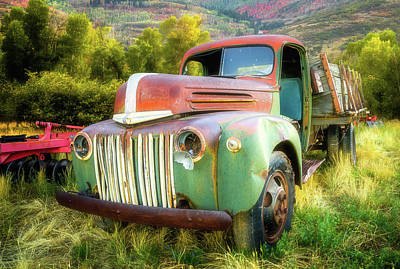 Photograph - Forgotten - 1945 Ford Farm Truck by TL Mair