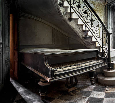 Forgotten Ancient Piano - Abandoned Building Art Print by Dirk Ercken