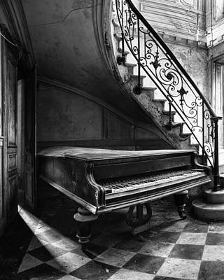 Forgotten Ancient Piano - Urban Decay Art Print by Dirk Ercken