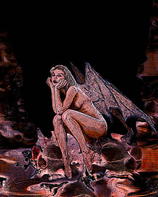 Forgotten Angel Art Print by Tbone Oliver