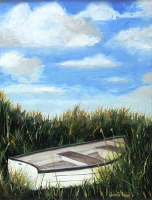 Painting - Forgotten Boat by Jamie Frier