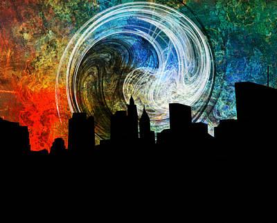 Popular Mixed Media - Forgotten City Night by Ally White