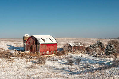 Snow-covered Landscape Photograph - Forgotten Farm by Todd Klassy