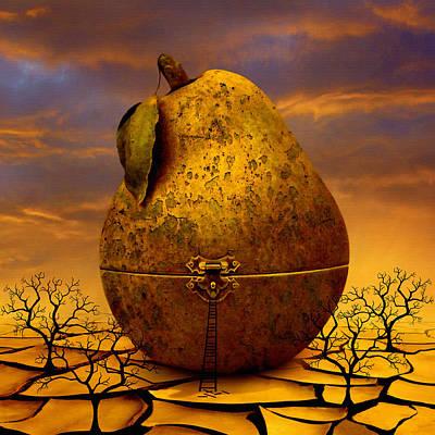 Pear Mixed Media - Forgotten Fruits by Airi Pung