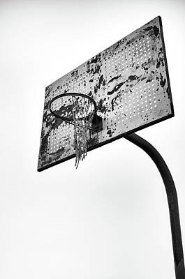 Photograph - Forgotten Hoop In Black And White by Anthony Doudt