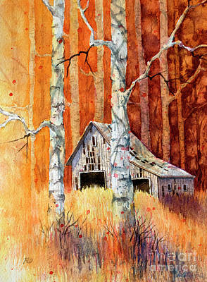 Painting - Forgotten In The Aspens by Rebecca Davis