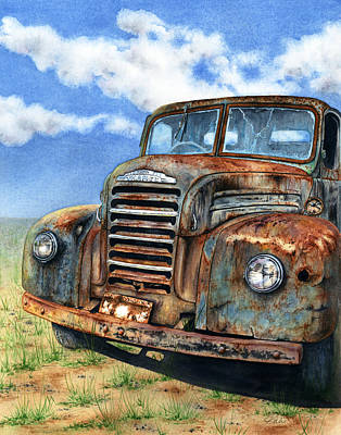Thames Truck Painting - Rust In Peace by Julie Senf