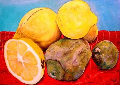 Wall Art - Painting - Forgotten Lemons by Ralf Glasz