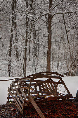 New England Landscape Photograph - Forgotten Lobster Trap by Jeff Folger