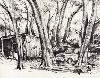 Drawing - Forgotten by Michael Ivy