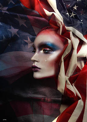 Stars And Stripes Mixed Media - Forgotten Patriot 002 by G Berry