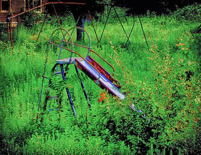Playground Digital Art - Forgotten Playground by Bill Cannon