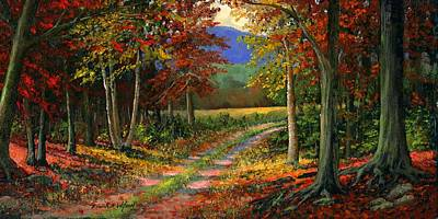 Autumn Woods Painting - Forgotten Road by Frank Wilson