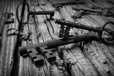 Photograph - Forgotten Skeleton Keys by Garry Gay