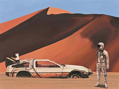 Original featuring the painting Forgotten Time Machine by Scott Listfield