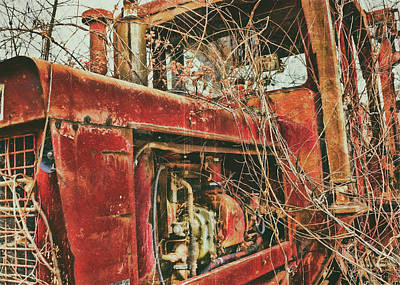 Photograph - Forgotten Tractor by Ron Grafe