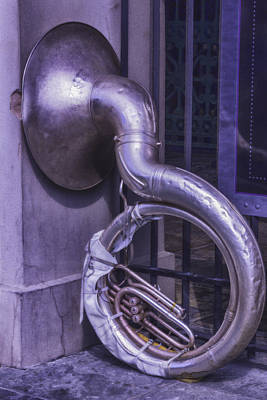 Big Easy Photograph - Forgotten Tuba by Garry Gay