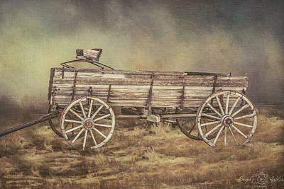 Photograph - Forgotten Wagon by Steph Gabler