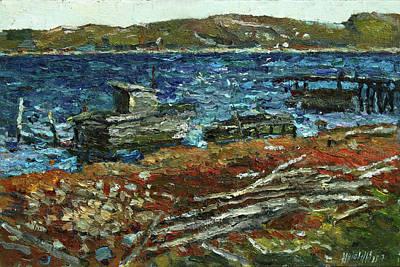 Painting - Forgotten Wharf by Juliya Zhukova