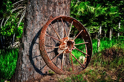Photograph - Forgotten Wheel by Niels Nielsen
