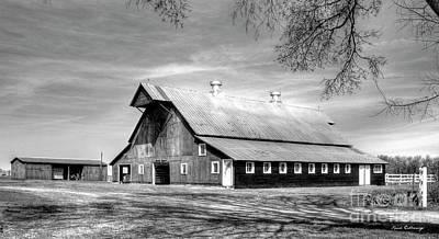 White Windows 2 Rural Hopkinsville Kentucky Barn Art  Art Print